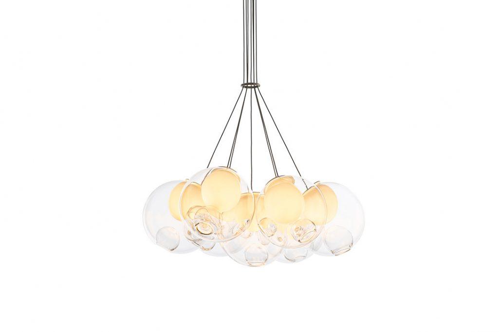 bocci 28.7 cluster pendant light on a white background