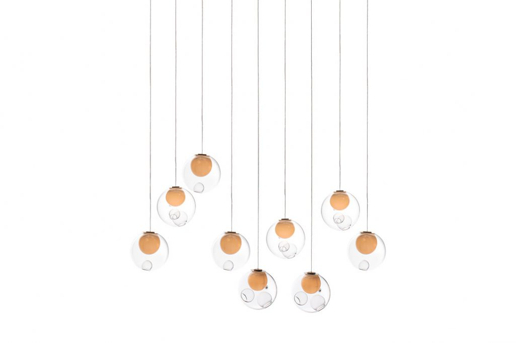 bocci 28.9 pendant light on a white background