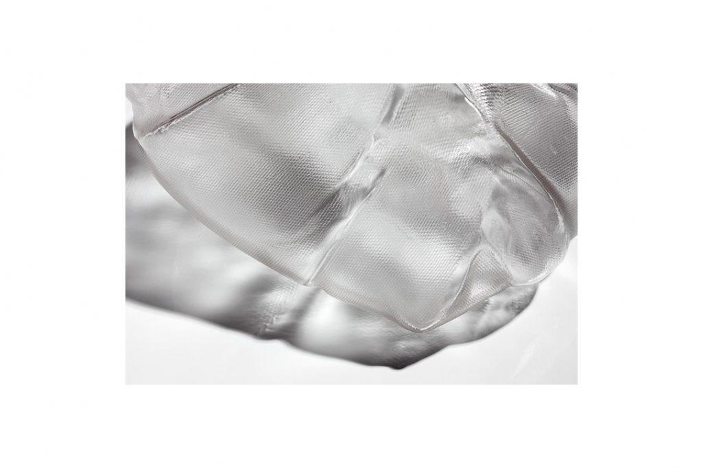 close up of bocci 73 series pendant light glass form