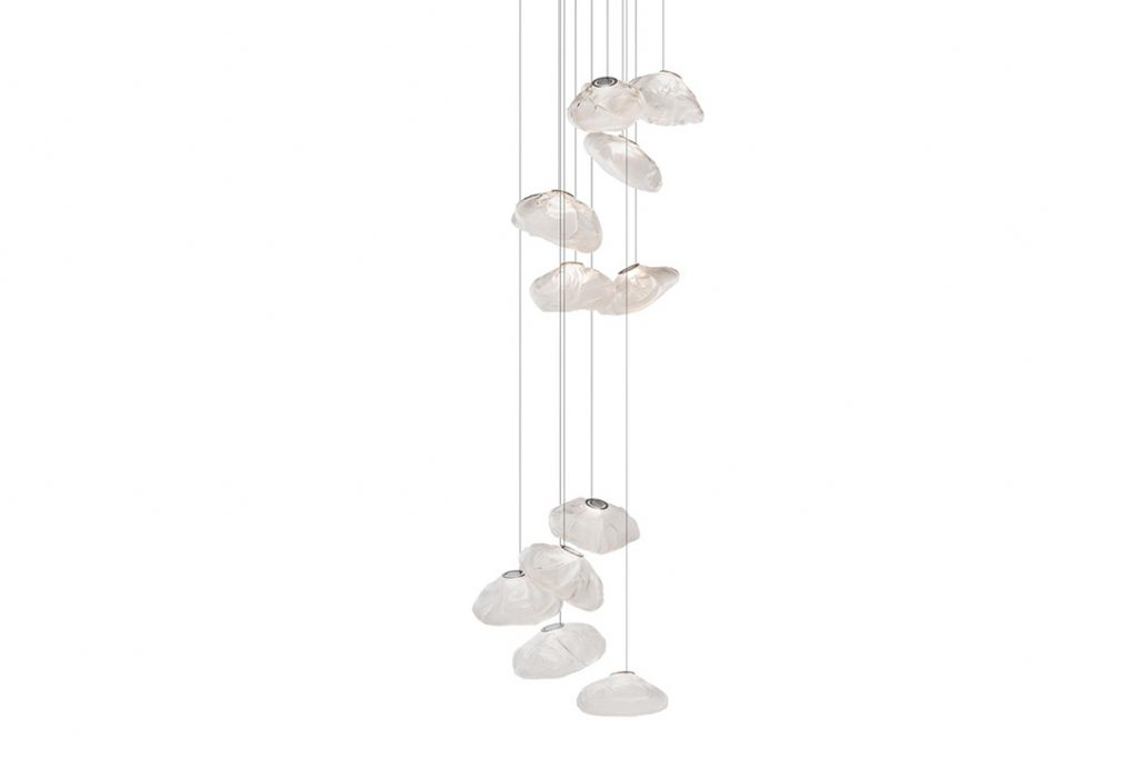 bocci 73.11 pendant light with round canopy on white background
