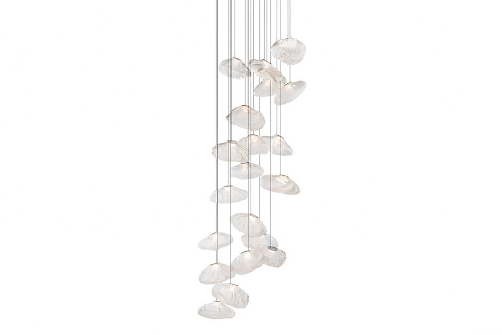 bocci 73.20 pendant light with round canopy on white background