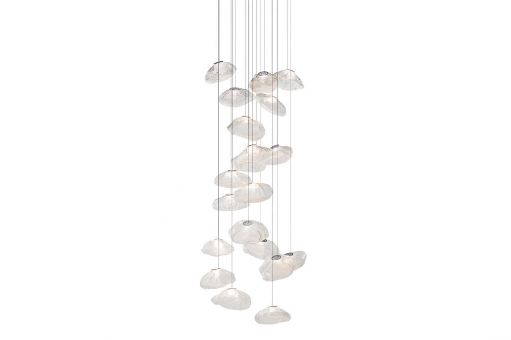 bocci 73.20 pendant light with square canopy on white background