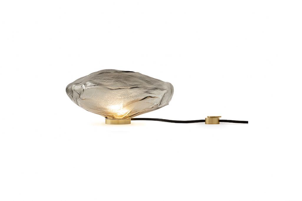 bocci 73t table lamp in grey 1 on white background