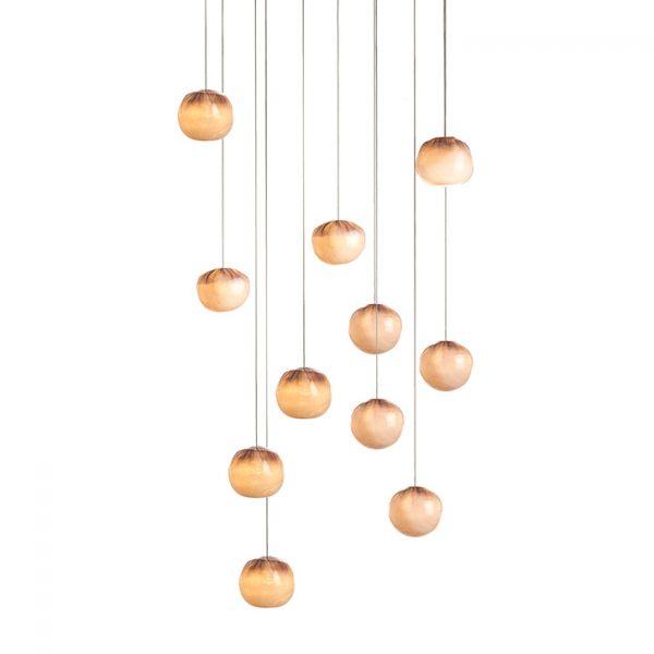bocci 84.11 pendant light with rectangular canopy on white background