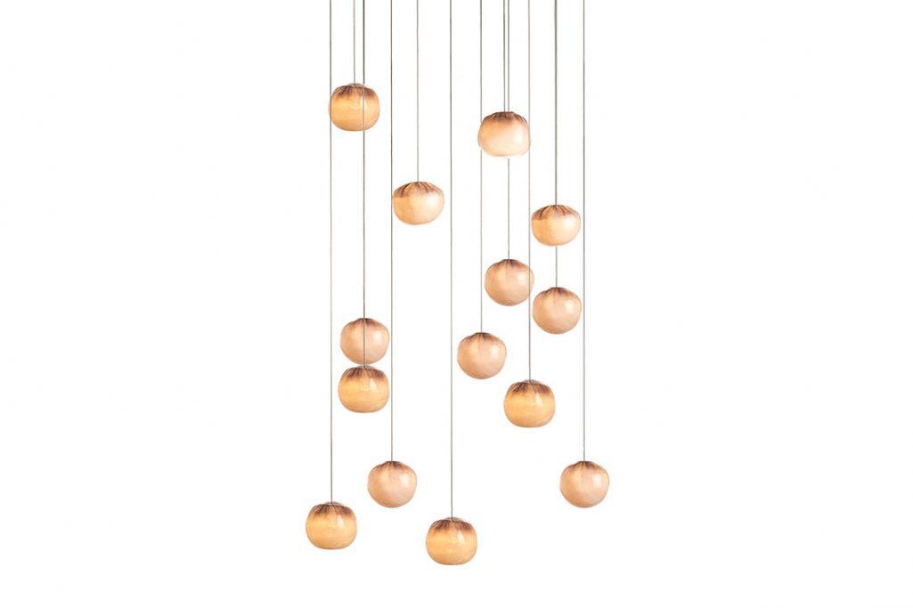 bocci 84.14 pendant light with rectangular canopy on white background