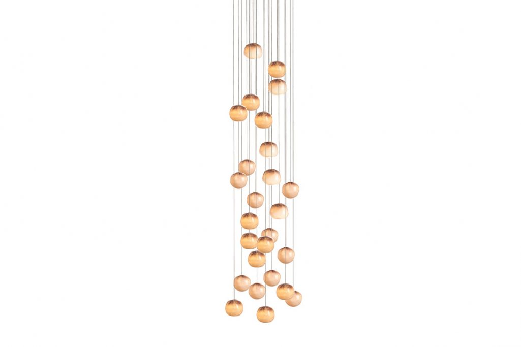 bocci 84.26 pendant light with round canopy on white background