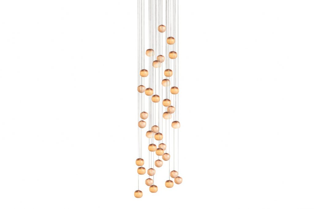 bocci 84.36 pendant light with round canopy on white background