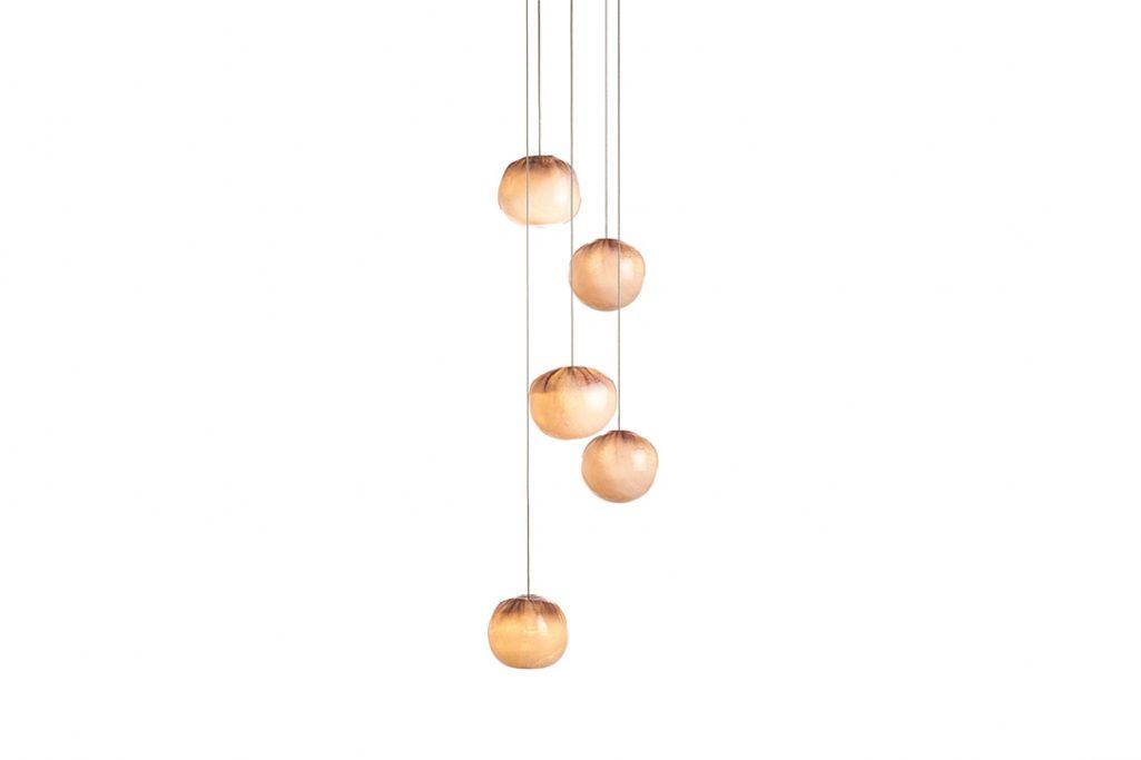 bocci 84.5 pendant light on white background