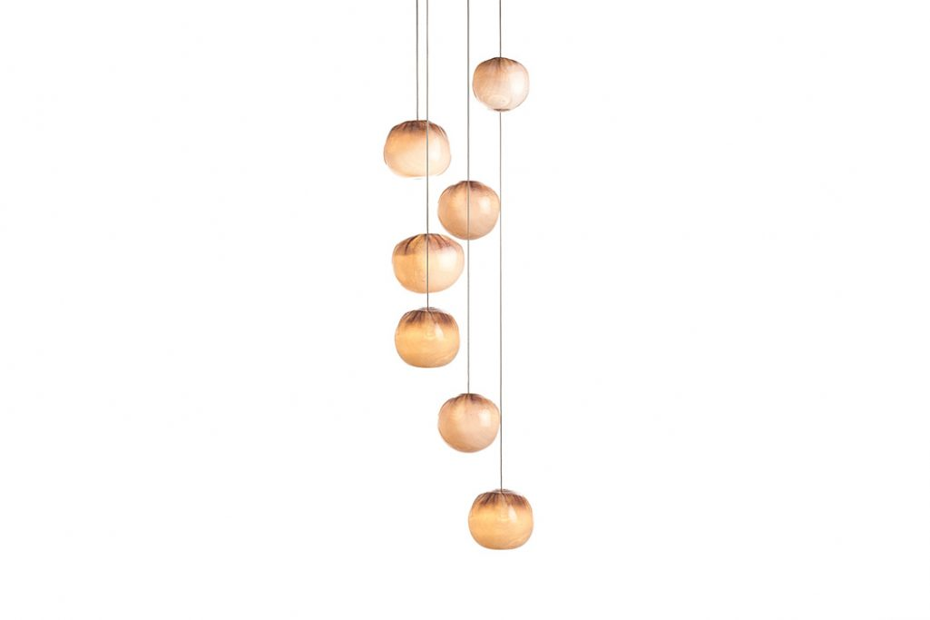 bocci 84.7 cluster pendant light on white background