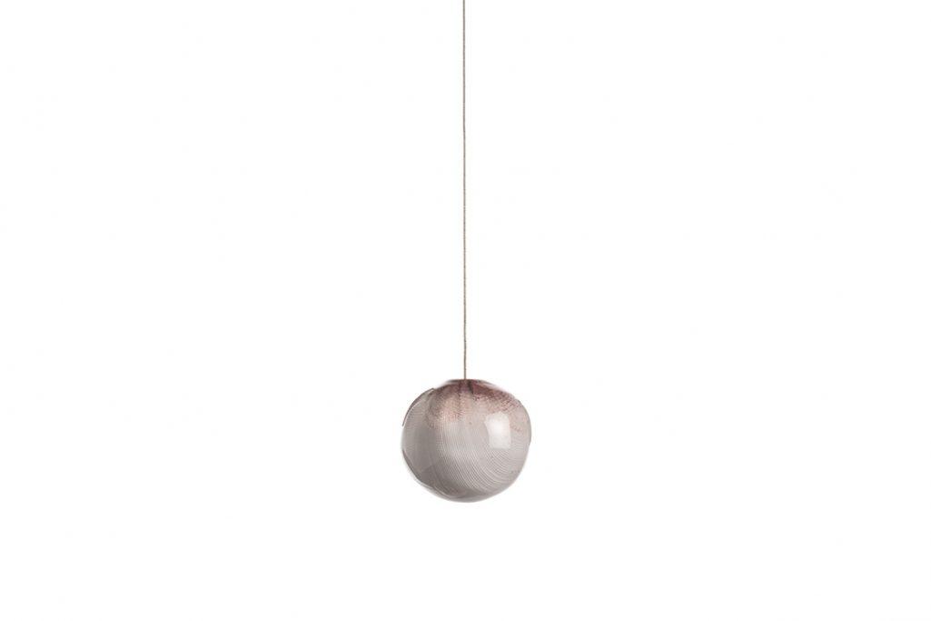 bocci 84.1 pendant light turned off on white background