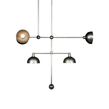 apparatus trapeze 5 mobile pendant light light on a white background