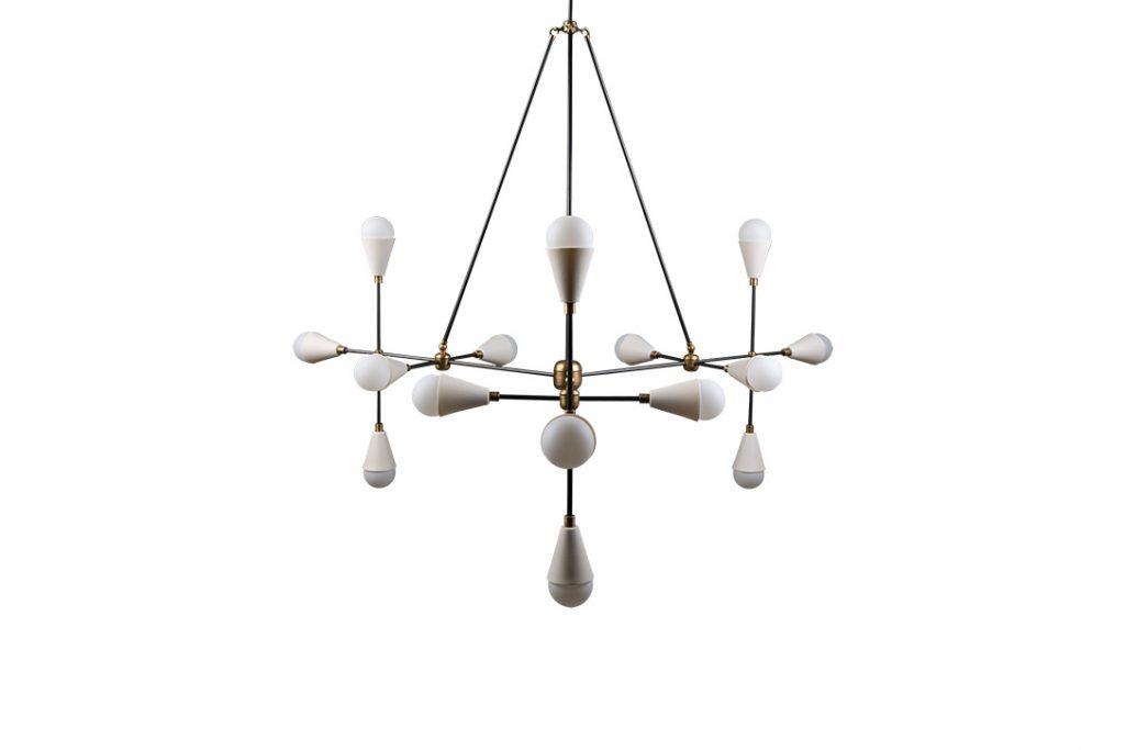 apparatus triad 15 pendant light on a white background