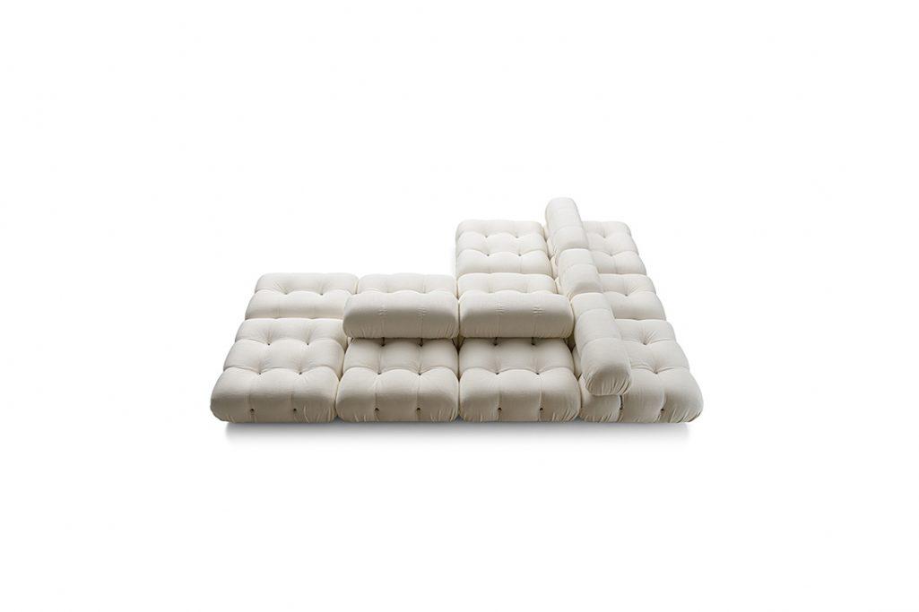 b&b italia camaleonda sofa on a white background