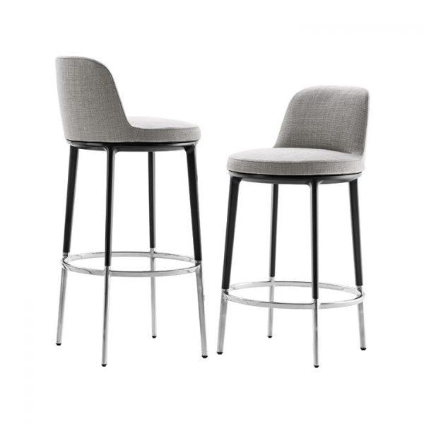 quickship version of b&b italia caratos stools on white background