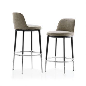 b&b italia caratos stools on white background