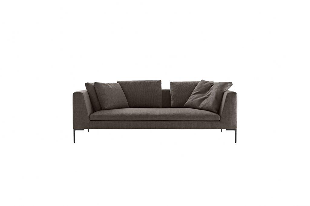 b&b italia charles sofa on a white background