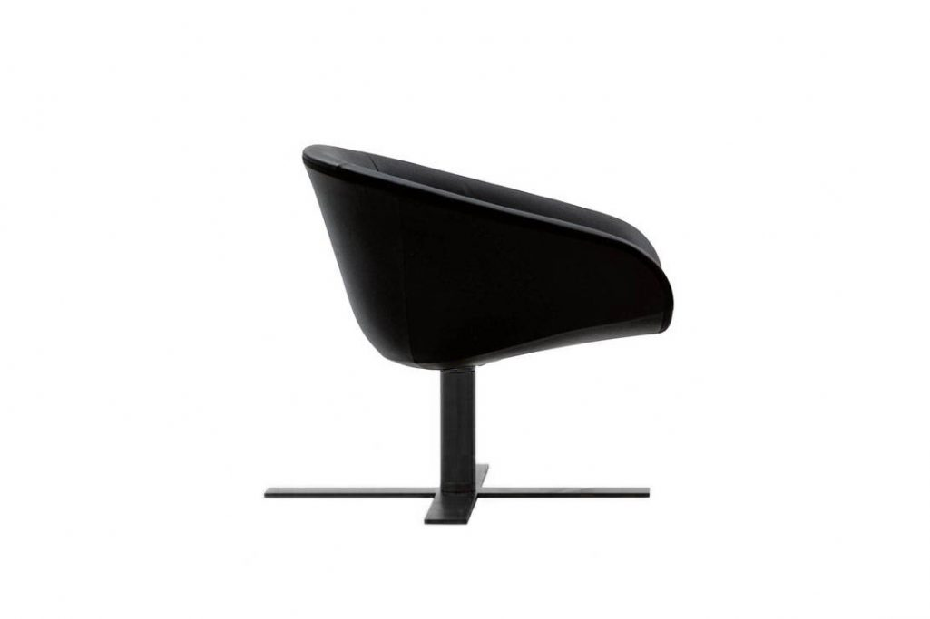 side view of a b&b italia mart armchair on a white background