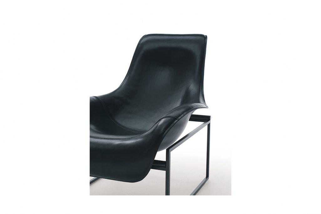 b&b italia mart recliner on a white background