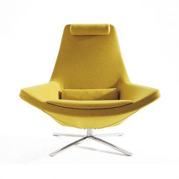 b&b italia metropolitan armchair on a white background