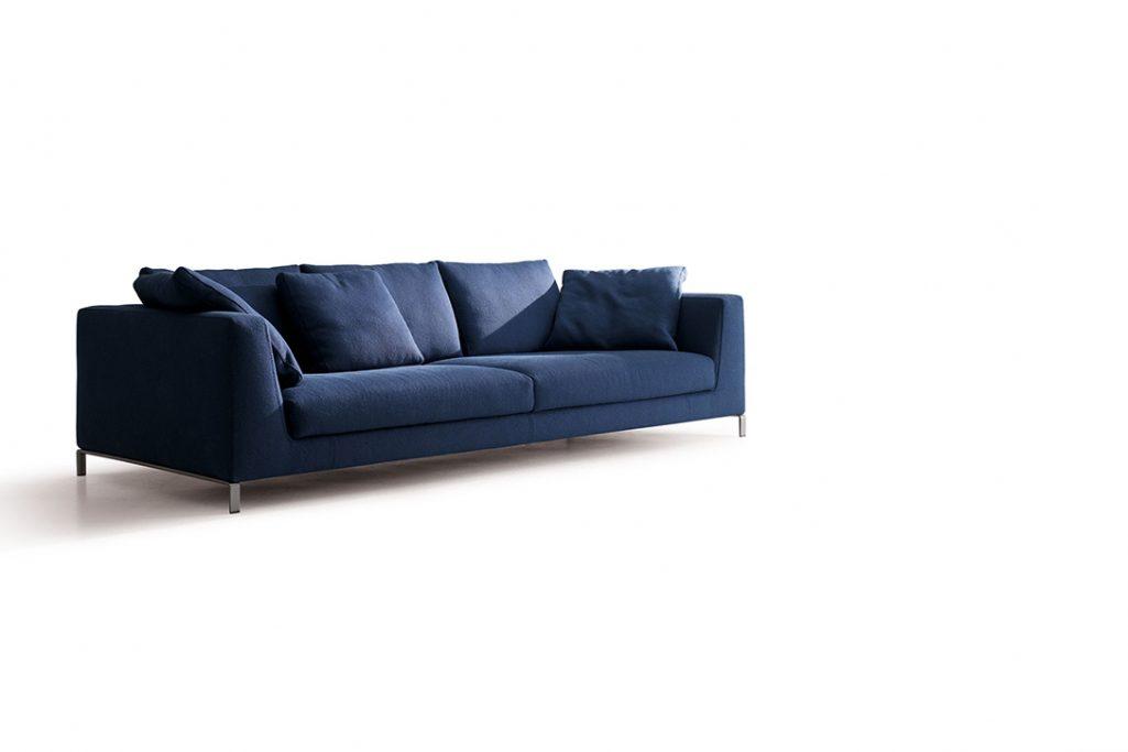 b&b italia ray sofa on a white background