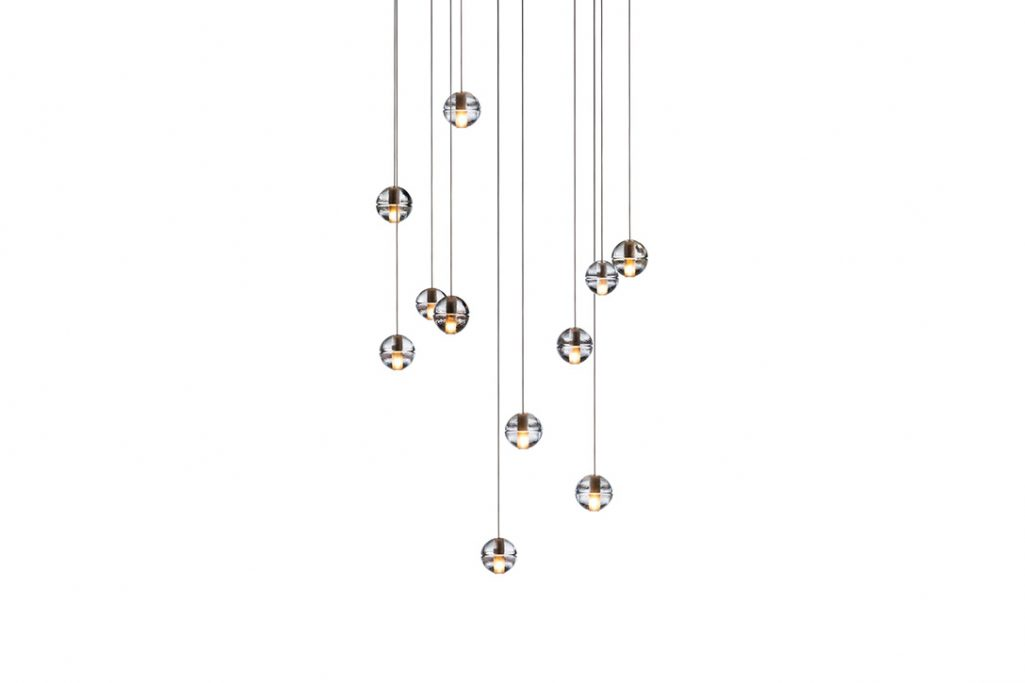 bocci 14.11 pendant light with rectangular canopy on a white background