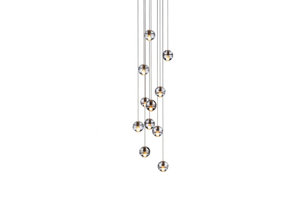 bocci 14.11 pendant light with round canopy on a white background