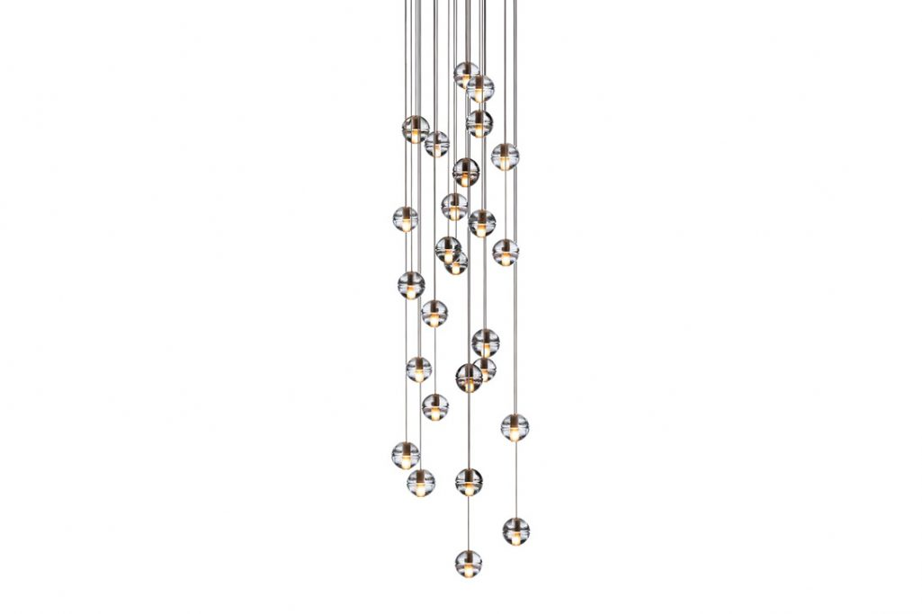 bocci 14.26 pendant light with round canopy on a white background