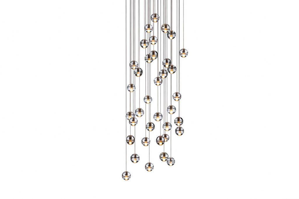 bocci 14.36 pendant light with round canopy on a white background