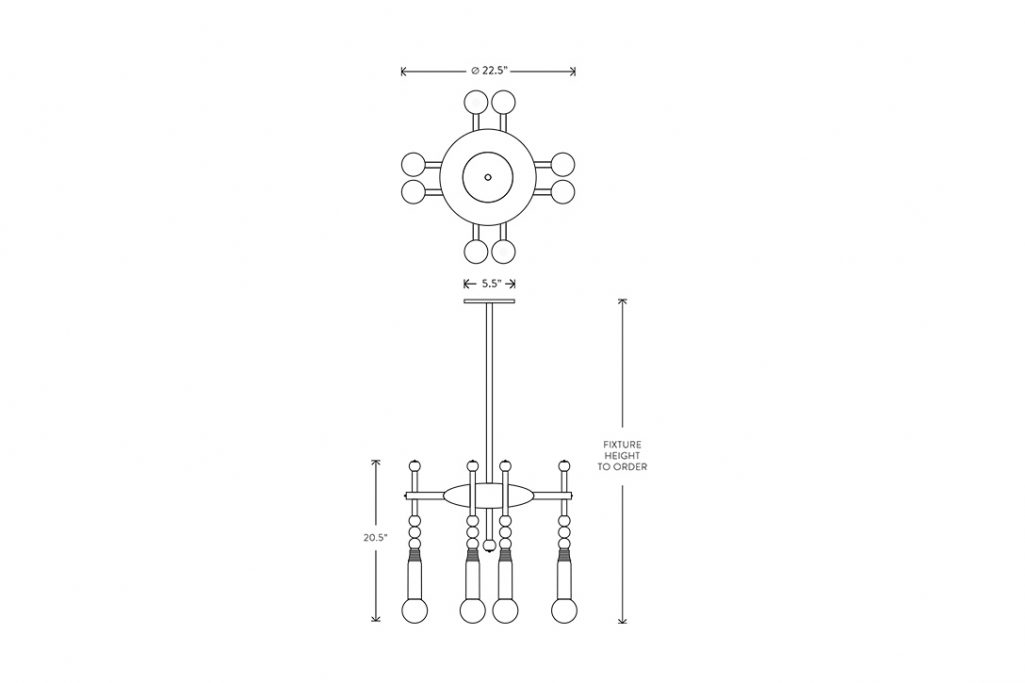 line drawing and dimensions apparatus talisman 8 pendant