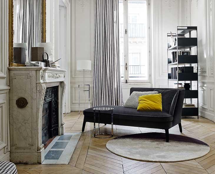 living room featuring maxalto febo chaise longue