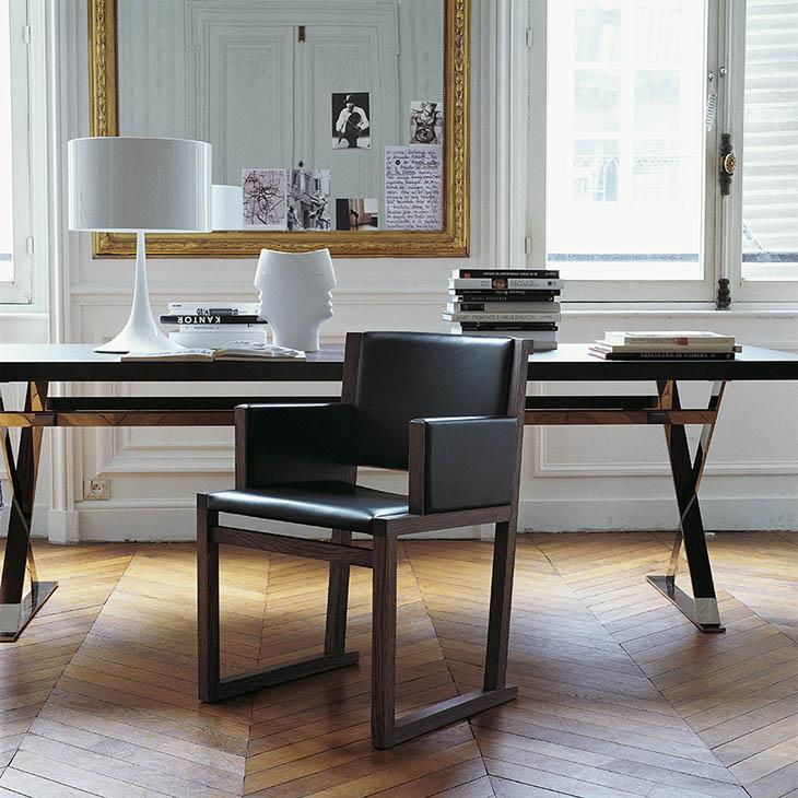 home office featuring maxalto musa armchair