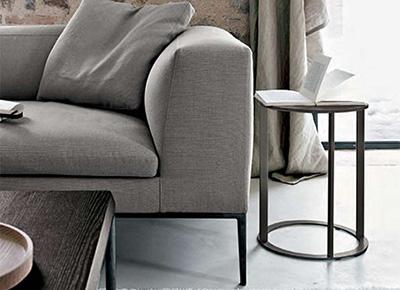 living room featuring b&b italia frank side table