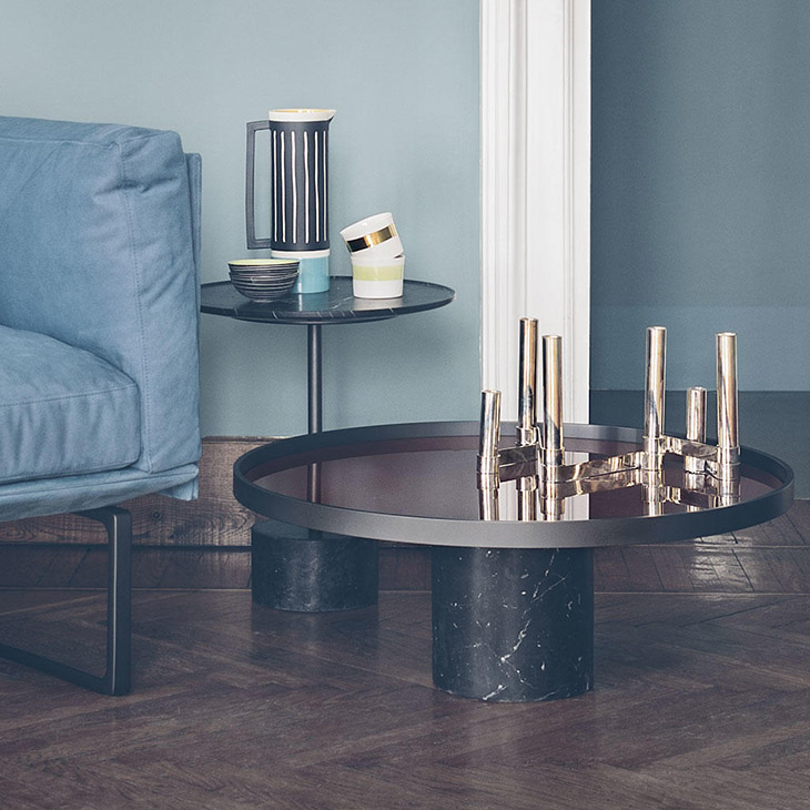 two cassina 9 tables in situ