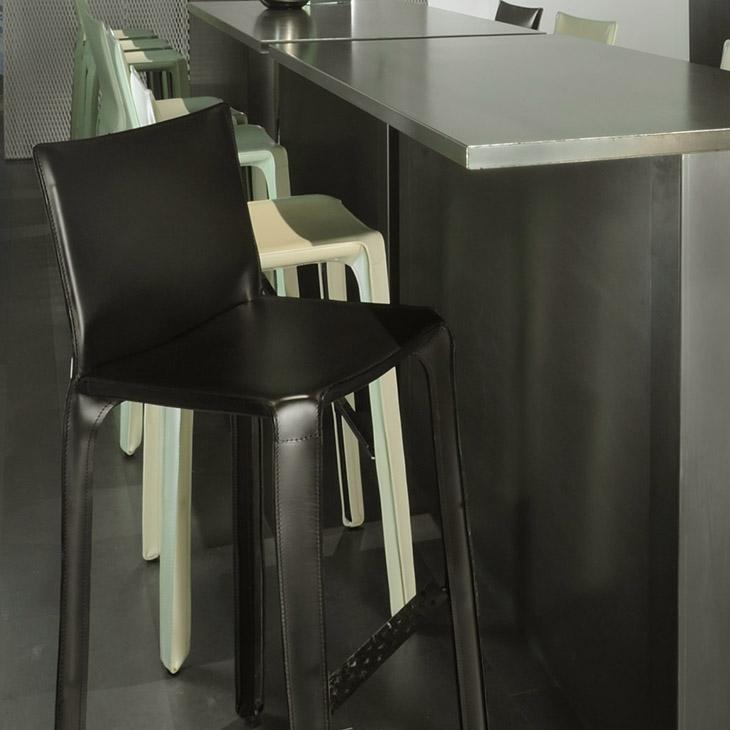 cassina cab bar stools in situ