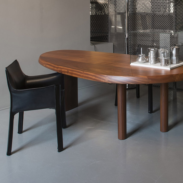 cassina table en forme libre and cab chair in situ