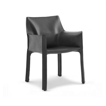 cassina cab dining arm chair on a white background