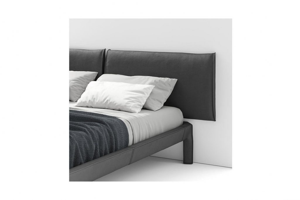cassina cab night bed with wall mounted headboard