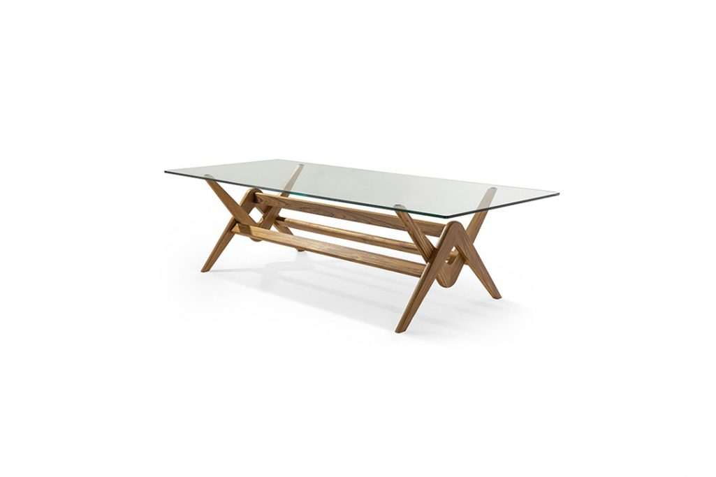 cassina capitol complex dining table on a white background