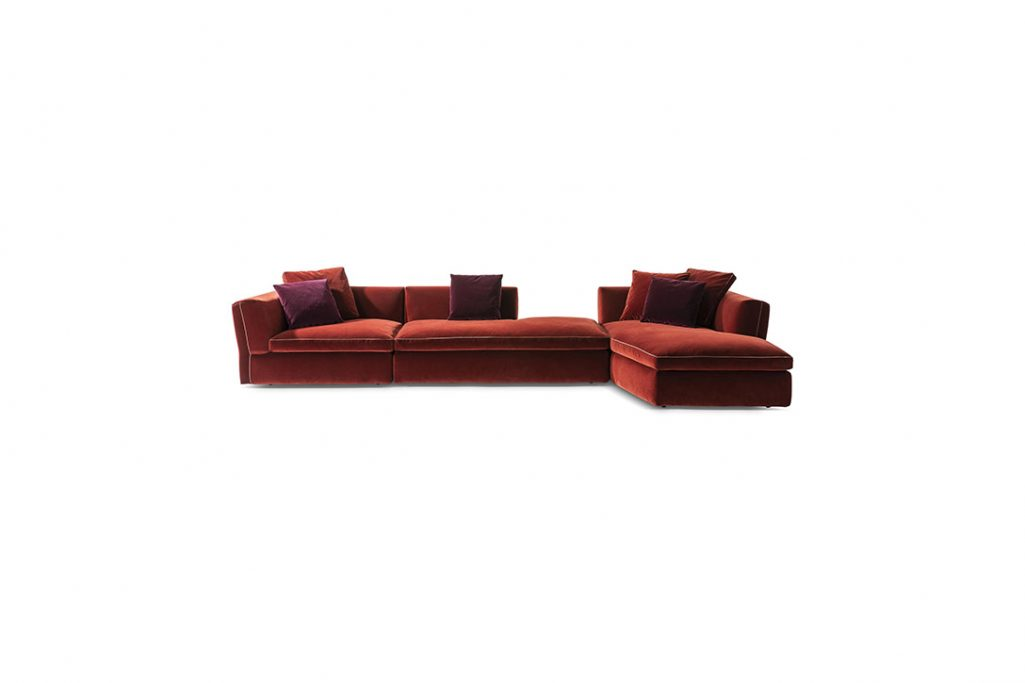cassina dress-up sectional chaise right on a white background