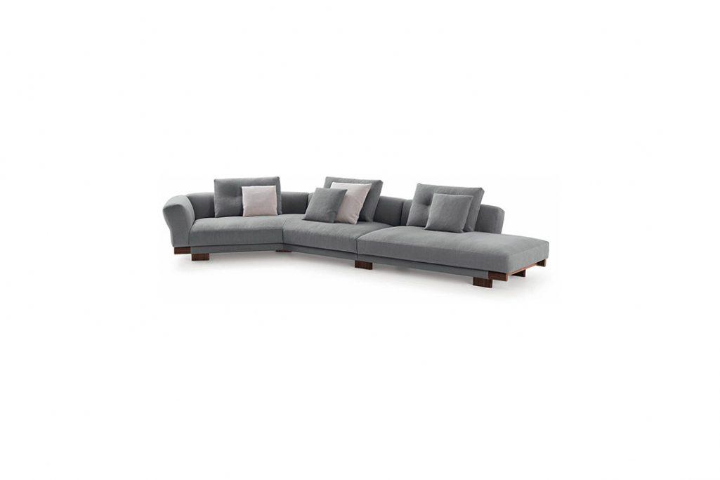 cassina sengu sofa on a white background