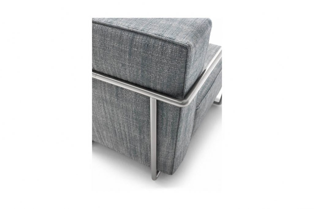 close up of a flexform abc armchair