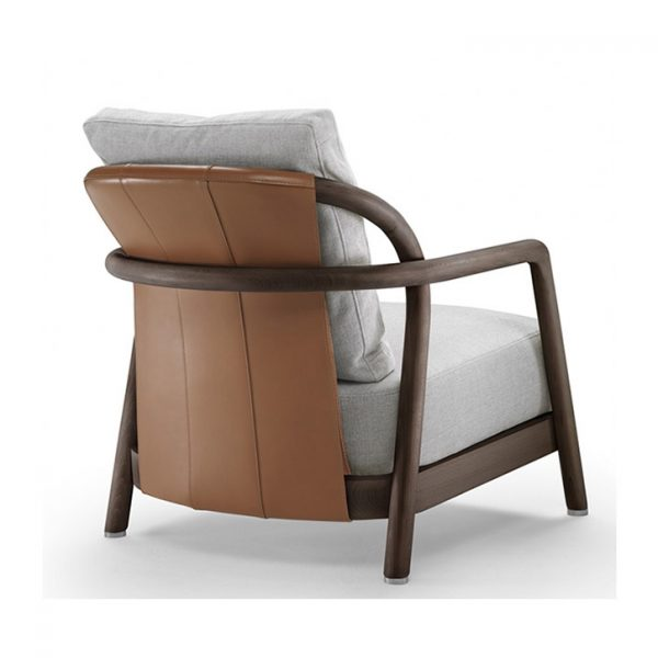 back view of a flexform alison armchair