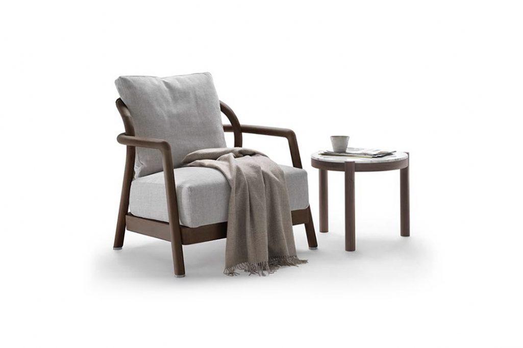 flexform alison armchair on a white background