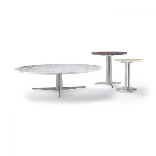 flexform fly coffee side table and two fly side tables