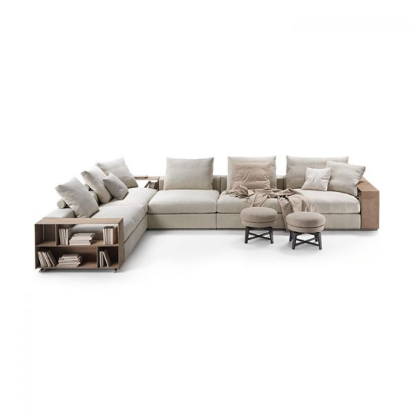 flexform groundpiece sectional sofa on a white background