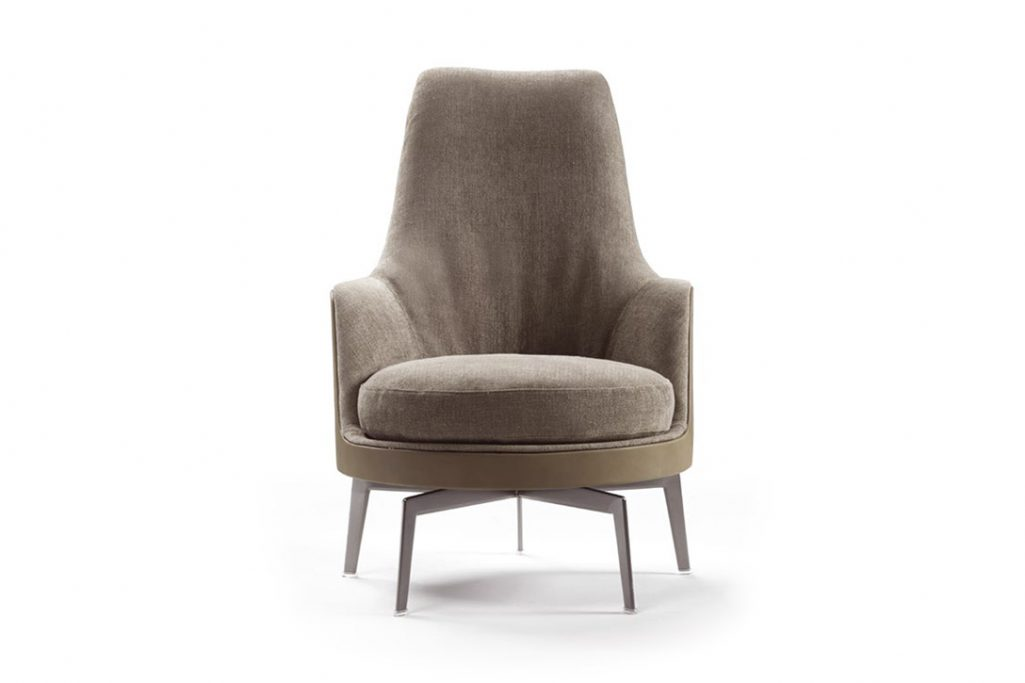 flexform guscioalto armchair on a white background