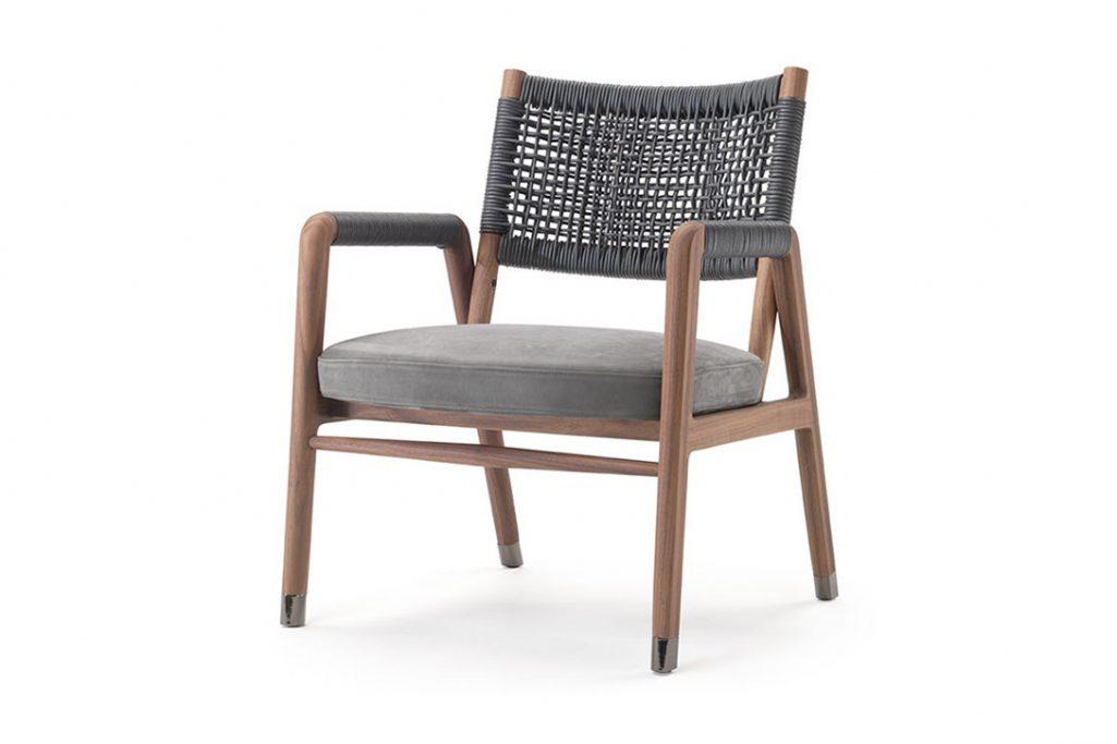 flexform ortigia armchair on a white background
