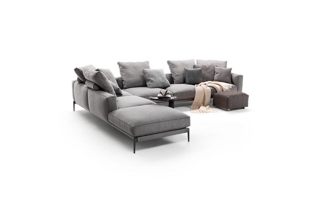 flexform romeo sofa on a white background