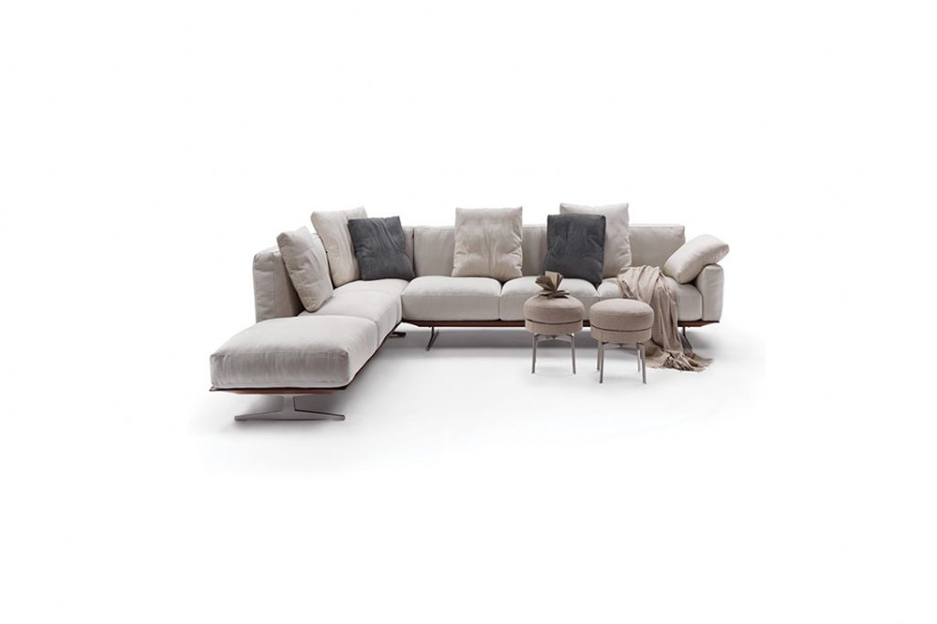 flexform soft dream sofa on a white background