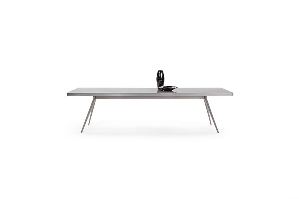 flexform zefiro dining table on a white background